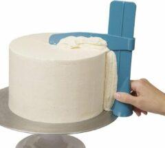 Blauwe WiseGoods - Premium Cake Schraper - Cake mes - Botercreme - Bakken Accessoires - Bakkers Tools - DIY - Bakvormen - Cake Tool - Verstelbaar