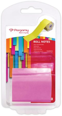 Afbeelding van Pergamy Roll notes, ft 10 m x 50 mm, neon roze