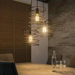 Zaloni Hanglamp Twister 3Lampen van 40 cm breed - charcoal