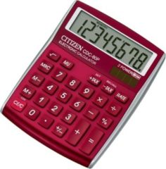 Calculator Citizen C-series desktop DesignLine rood