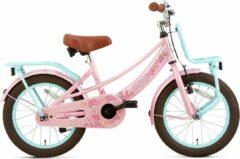 Supersuper Meisjesfiets Lola 16 Inch 25,4 Cm Meisjes V-brakes Roze/turquoise