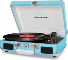 Crosley Cruiser Deluxe platenspeler in koffer turquoise