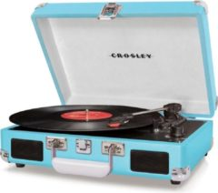 Blauwe Crosley Cruiser Deluxe Platenspeler Turquoise