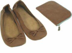 Meander elegant home accesoires Pocket Shoe camel maat 36/37 - slofje voor onderweg
