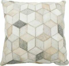 Rocaflor Sierkussen wit huid hexagon 50x50cm