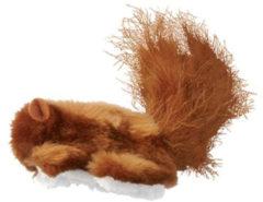 Kong Speeltje Pluche Eekhoorn - Kattenspeelgoed - Bruin per stuk