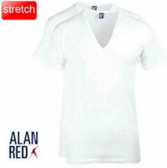 Witte Alan Red t-shirt extra diepe v-hals 2 pack nov stretch slim fit