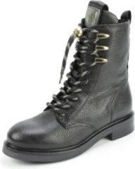 VIA VAI Viola Lake Dames Biker Boots - Zwart/Goud - Maat 38