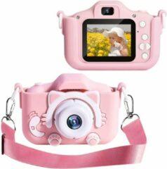 OHOME® Digitale Kindercamera HD 1080p 32GB Inclusief Micro SD Kaart - Vlog Camera voor Kinderen - Digitaal Kinderfototoestel - Klein Formaat Speelgoed Camera - Alternatief Vtech Kidizoom - Roze