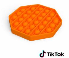 Merkloos / Sans marque Pop it Fidget Toy- Bekend van TikTok - Hexagon - Oranje