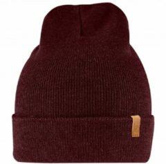 Donkerrode Fjällräven Fjallraven Classic Knit Hat Muts - Dark Garnet