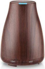 CareScent Mist Buddy Aroma Diffuser Donker Hout 120ml | Luchtbevochtiger voor Aromatherapie | Etherische Olie Diffuser | Aroma Vernevelaar | LED Verlichting