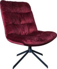 Vtw Living Draaifauteuil - draaistoel - Stoel - design stoel - fauteuil - relaxstoel - zitmeubel - loungestoel - lounge - rood - 94 cm breed