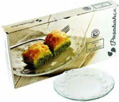 Transparante Pasabahce Pastoral - Dessertborden - 6x