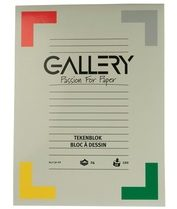 Afbeelding van Gallery tekenblok houtvrij papier 120 g/m² formaat 24 x 32 cm blok van 24 vel