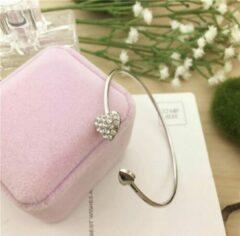 Without lemon Moederdag - Valentijnsdag tip - Zilverkleurig armbandje met hart - love - liefde - romantisch cadeau - armband - bracelet heart