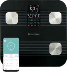 Zwarte Silvergear Premium Slimme Weegschaal – Lichaamsanalyse en Hartslagmeter