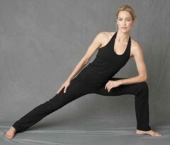 Zwarte Yoga-top neckholder, jet black XL Loungewear shirt YOGISTAR