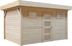 Woodvision Topvision | Blokhut Kievit 400 x 300 Geïmpregneerd groen