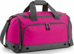 Bagbase Sporttas/reistas fuchsia/grijs 30 liter - Sporttassen - Weekendtassen - Voetbaltassen roze