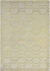 Wedgwood - Arris Grey 37304 Vloerkleed - 250x350 cm - Rechthoekig - Laagpolig Tapijt - Design, Scandinavisch - Goud, Grijs