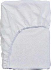 Witte Essenza - Badstof - Waterdicht PU - Hoeslaken - Tweepersoons - 140x200 cm - White