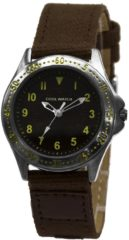 Coolwatch by Prisma CW.257 Kinderhorloge Bolk staal/canvas bruin 31,5 mm