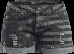 Brandit Stars and Stripes Hotpants grigio