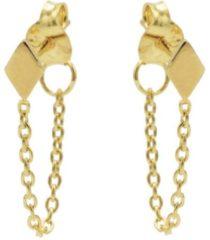 Karma Jewelry Karma Oorbellen Chain Diamond Goud