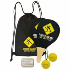 Gele Schildkröt - Street Racket Set zwart/geel