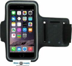 Mobtsupply Zwart Sportarmband(5.5 tot 6.0 Inch) inclusief Sleutelhouder + Kaarthouder