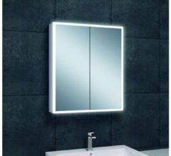 Saqu Practico Spiegelkast met LED verlichting 60x70x13 cm wit