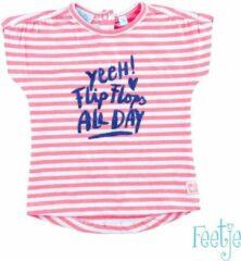Roze Feetje Feetje Baby T-shirt Maat 86
