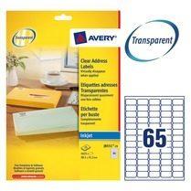 Avery transparante etiketten QuickPEEL ft 38,1 x 21,2 mm (b x h), 1.625 stuks, 65 per blad