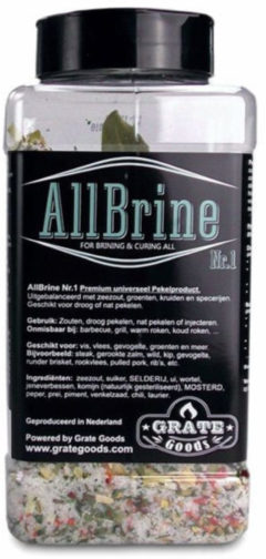 The Dutch BBQ Crew Grate Goods | Allbrine Nr.1 | Strooibus 800gr