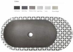 Urbi et Orbi Holywater opbouw wastafel 63x14cm middengrijs