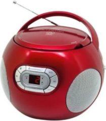 Soundmaster SCD2120RO Radio/CD-speler FM AUX, CD Rood
