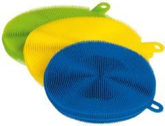 CLEANMAXX Silikonschwämme Cleanmaxx blau/gelb/limegree