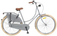 28 Zoll Popal Omafiets OM28 Damen Holland Fahrrad Popal grau