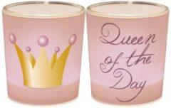 Roze Queen of the Day / Een lichtje voor jou :-)