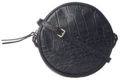 Zwarte O My Bag Luna crossbodytas van leer