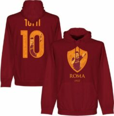 Bruine Retake AS Roma Totti 10 Gallery Hooded Sweater - XL