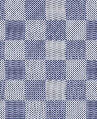 Blauwe Ikado Antislipmat op maat, geblokt - 65 x 400 cm