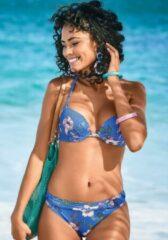 Blauwe S.Oliver RED LABEL Beachwear push-upbikinitop Maya met een bloemmotief