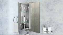 Eastbrook Cassio 800x700mm 2 deurs spiegelkast