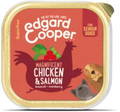 Edgard-Cooper Edgard&Cooper Kuipje Chicken Salmon Senior - Hondenvoer - Kip Zalm Broccoli 150 g Graanvrij