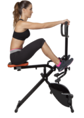 Zwarte Total Crunch Fitnessapparaat Evolution Fitness Device