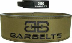 Barbelts Lever belt groen - powerlift riem - M
