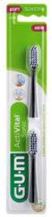 Witte 3x GUM Activital Opzetborstels 2 stuks