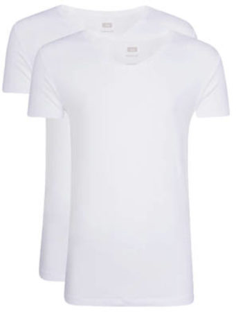 Afbeelding van Witte WE Fashion Fundamental slim fit T-shirt (set van 2)